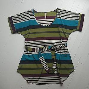 Modcloth Poema long striped tunic top small